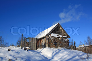 old wooden farmhouse