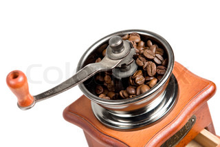 a coffee mill isolated on white