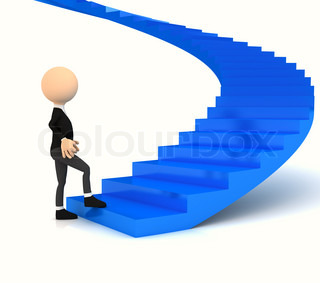 Professional carrier stair over white. computer generated image