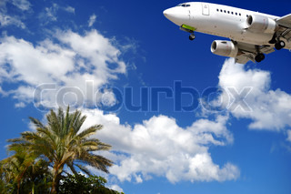 Plane is about to land at an exotic destination