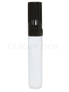 Black felt tip marker with cap isolated on a white background