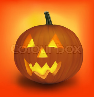 Halloween pumpkin. Vector.