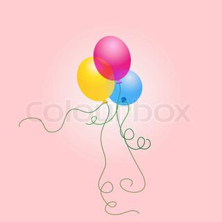 Vector of 'baloon, anniversary, vector'