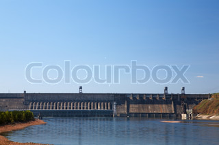 krasnoyarsk hydroelectric power station on Yenisei river