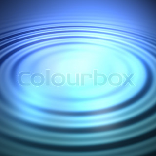 3D illustration of some clear blue water with circular ripples and plenty of copyspace.