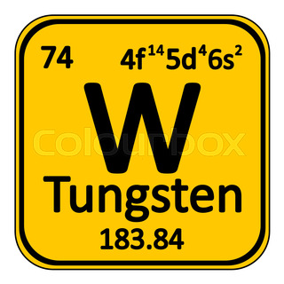 Periodic table of elements vector illustration of a spherical periodic table element tungsten icon urtaz Choice Image