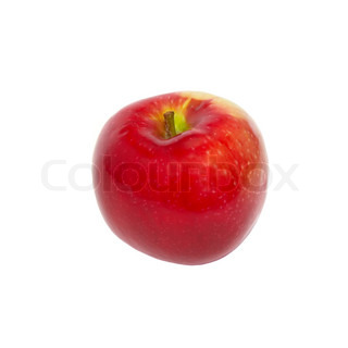 Red fresh apple isolated on white.
