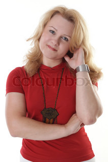 Isolated Portraits Mature Woman