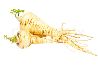 Parsnip isolated on white.