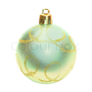 Yellow Christmas bauble.