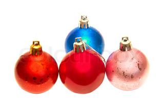 Christmas baubles.