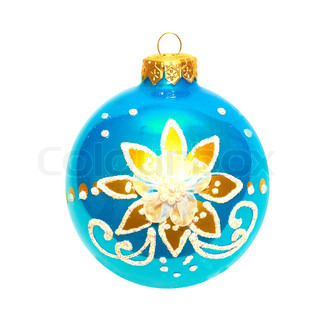 Blue Christmas bauble.