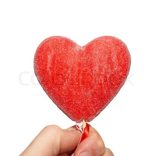Valentine heart in a hand.
