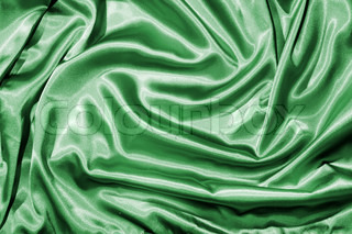Fabric background in green color