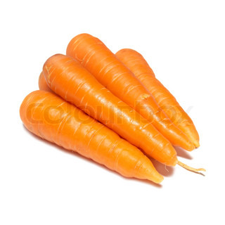 Orange carrots isolated on the white background