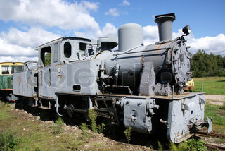 The steam locomotive of the last century costs at station