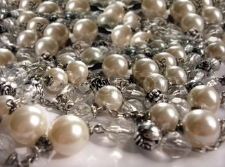 the luxurious beautiful pearl necklace, jewelry, background