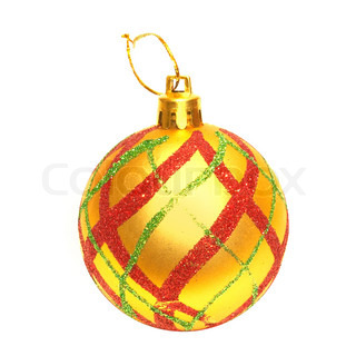 Christmas bauble isolated on the white background.