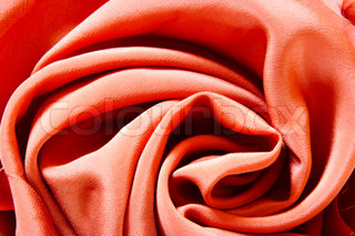 Silk rose - fabric background with deep folds