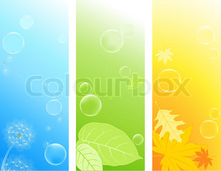 colored vertical nature backgrounds with soap bubbles