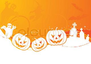 Halloween Hintergrund mit Kürbis, Element für Design , Vektor-Illustration