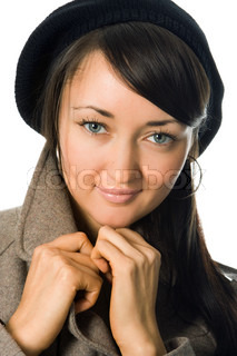 beauty girl portrait in outer clothing