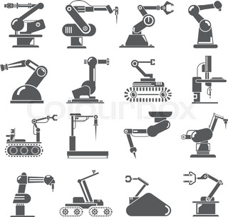 industrial robot icons
