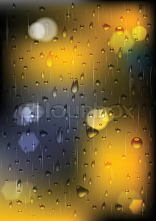Vector illustration of rain drops on window (eps 10)