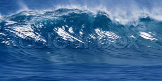 blue ocean wave can be used as background