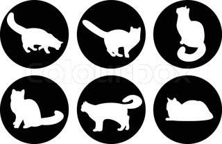 Logo cats, cat buttons, cat icons