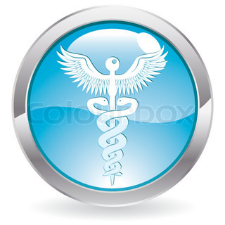 Three Dimensional circle button with medical icon, vector illustration