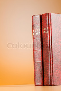Bible books against the colorful gradient background