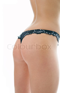 woman back on white background