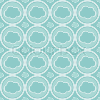 cute abstract clouds pattern