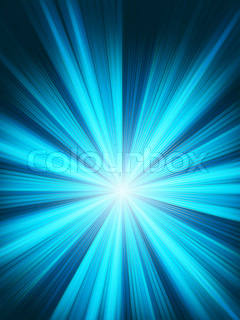 Blue flame burst. EPS 8 vector file included