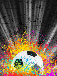 Football poster light burst. EPS 8 vector file included