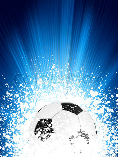 Football poster blue light burst. EPS 8 vector file included