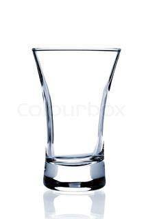 Cocktail Glas Collection - Shot isoleret på hvid baggrund