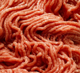 Fresh raw minced meat used as background