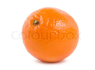Orange orange isolated on a white background