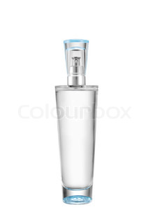 bottle of perfume isolated on white background
