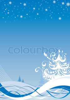 Abstract jul baggrund med snefnug , element for design , vektor illustration
