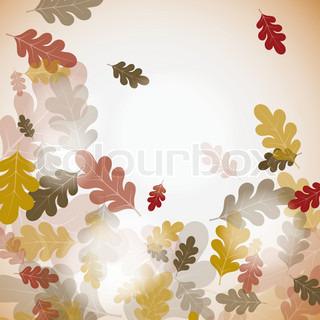Eg efteråret baggrund, vektor illustration , eps10