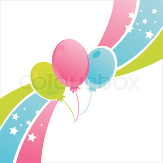 colorful birthday balloons background