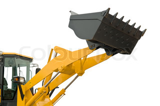 isolated loader shovel