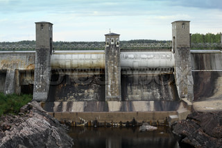 Dam on a river in Finland