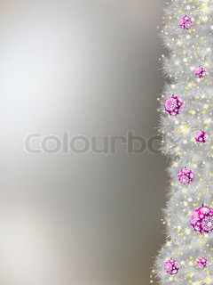 Thank you card on a elegant christmas background