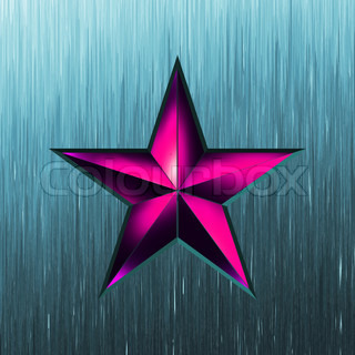 illustration of a purple star on steel background