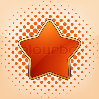 Vector star, abstract design element. EPS 8 vector file included
