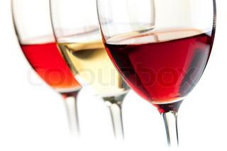 Vin samling - Rose , hvid og rødvin